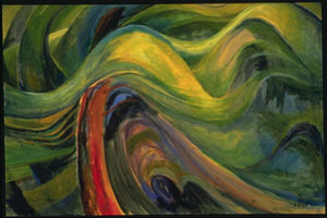 Abstract Tree Forms 1931-1932 oil on paper